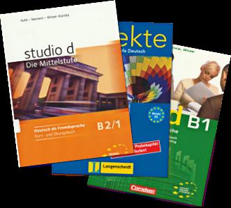 książka : Deutsch als fremdsprache mit Aspekte und studio D